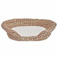 Wicker Pet Basket, Cat or Small Dog Basket, Water Hyacinth