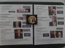 """DONALD TRUMP, """"VICTORY TOUR-THANK YOU"""" AMERICA, 7 STATES, EVENT TICKETS AND COIN"""