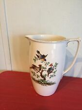 Magnificent Beautiful Floral,Bird Pattern English Tall Porcelain Pitcher