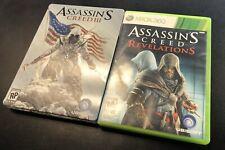 Assassin's Creed III 3 Steelbook + Assassins Creed Revelations (Xbox 360)