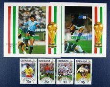 Grenada 1990 Calcio WM SOCCER FIFA World Cup Italia Italy 2161-44 bl.255-256