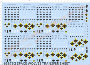 Wolf Icons Transfers Sheet x2 Warhammer 40k Space Marine Wolves Bits
