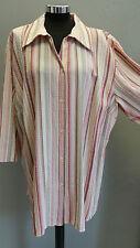 Gestreifte Lockre Sitzende Übergröße Damenblusen,-Tops & -Shirts mit Polyester