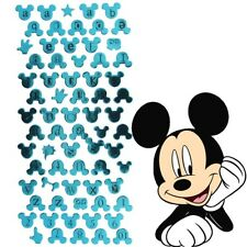 DISNEY MICKEY MOUSE LETTER STICKERS Blue Spell Name Door Wall Card Making Craft