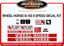 WHEEL HORSE B-160 8 SPEED TRACTOR DECAL SET, reprocduction