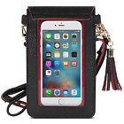 New Mini Leather Wallet Crossbody Cell Phone Bag Pouch Outdoor Handbag Purse