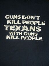 Plus Size 2XL blue GUNS DON'T KILL PEOPLE t-shirt by GILDAN
