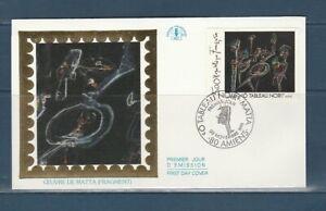 enveloppe 1er jour  tableau  noir Matta 80 Amiens   1991