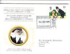 1979 Int'l Society of Postmasters London Metropolitan Police Anniv. Silver Medal