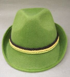 Oktoberfest German Alpine Hat Swiss Lederhosen Austrian Bavarian German Green