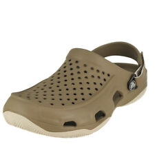 Crocs Swiftwater Deck Clog Khaki/Stucco Mens Mules Size 9M