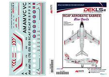 1/72 Decals Canadair Sabre - RCAF Blue Devils Team DEKL's II