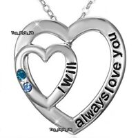XMAS GIFTS FOR HER Girlfriend Women Love Silver Heart Necklaces Girls Mother E9