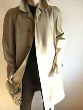 BURBERRY MENS XXL 2XL 44-46 VINTAGE CHECK LINED TRENCH COAT RAINCOAT JACKET MAC