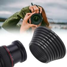 Metal Step Up Rings Lens Adapter Filter Set 49-52-55-58-62-67-72 7pcs BEST