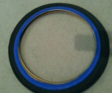 One(1) Duro 20X1.75 Bmx Bicycle Tire Blue Side Line Bmx Bicycles