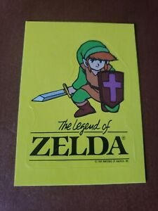 THE LEGEND OF ZELDA LINK 1989 TOPPS STICKER TIP CARD #5 MINT PACK FRESH NINTENDO