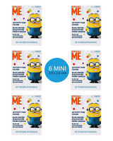 Despicable Me Minions Party Supplies 6 MINI ACTIVITY PADS Colouring Books