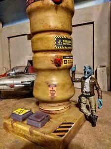 Custom acid rain star wars joy toy vitruvian hacks fuel tower prop 3.75 Diorama