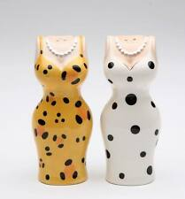 62404 Cocktail Cuties Salt Pepper Shakers Party Leopard Dalmatian Evening Dress