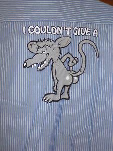 Rats Ass  Mechanic~Shop Shirt Short Sleeve Size: XL Used/recycled hotrod