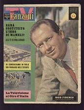 SORRISI 21/1961 FIDENCO MINA RENATA MAURO GIRO D'ITALIA CICLISMO BAFFI ANQUETIL