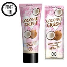 Power Tan Coconut Crush 250ml or 20ml Tanning Lotion Accelerator Cream Sunbed
