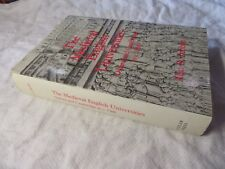 The MEDIEVAL ENGLISH UNIVERSITIES Oxford & Cambridge to 1500 COBBAN #COBB