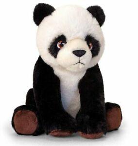 Keel Toys KEELECO PANDA Bear 25cm Soft Toy 100% RECYCLED Eco Plush