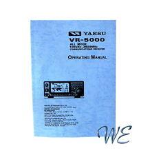 NEW Yaesu VR-5000 Operating Manual Book in English