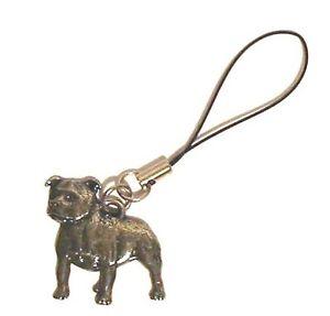 Staffordshire Bull Terrier Dog Mobile Phone Charm Mum Dad Vet Kennels Gift NEW