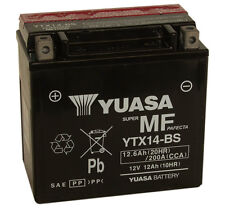 Genuine Yuasa YTX14-BS Motorbike Motorcycle Battery Inc Filling Kit