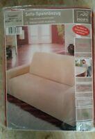 Mikrofaser Sofa - Spannbezug - 2er Couch 135  - 160 cm *