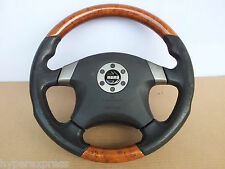 Nissan MOMO SRS Airbag Wood Leather Steering Wheel OEM