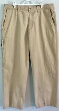 Columbia Men's 38x32 Light Tan Relaxed Fit Straight Cotton Hiking/Outdoor Pants