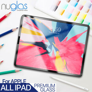 Nuglas Tempered Glass Screen Protector For Apple iPad 8 7 6 Air Mini Pro 11 12.9