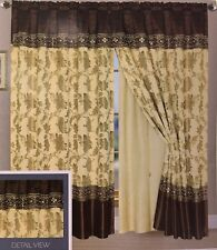 Window Curtain Lined Curtain Set And Valance Window Treatment  2 Panel Ocean