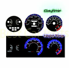 BLACK 92-95 Honda Civic LX/EX/Si MT INDIGLO GLOW BLUE/WHITE EL REVERSE GAUGES