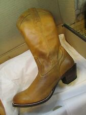 "NEW STETSON 11"" RUSTIC COWBOY WESTERN BOOTS  WOMENS 9.5  LEATHER MSRP $249."