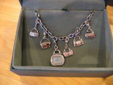 NIB CITIZEN ECODRIVE Model EG2310-61N Charm Bracelet Swarovski Crystal Watch