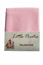Brand New Pink Baby Cot Bed Pillow Case 60 x 40 - 100% Cotton