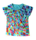 Wavy Pixels girls T-shirt :: Designed by deezo :: free delivery