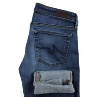 AG Adriano Goldschmied Womens 26 The Stevie Cuff Slim Straight Cuffed Jeans
