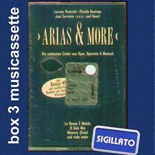 ARIAS & MORE BOX 3 MUSICASSETTE SIGILLATO - PAVAROTTI-CARRERAS-DOMINGO & MORE