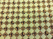 Michael Miller-Señales de construcción-D#CX4391 - 100% Algodón-amarillo