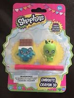 Shopkins character heads crayon 3d Brand new in packet #2