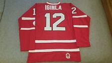 Jarome Iginla Team Canada Olympic Jersey w/ Fight Strap NWOT Red Nike M 2010