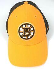 Boston Bruins Reebok Snapback NHL Cap Yellow Black Mesh Hat Face Off Headwear