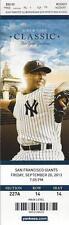 2013 MLB GIANTS @ YANKEES BASEBALL UNUSED TICKET - AROD BREAKS GRAND SLAM RECORD