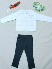 Gymboree White Sweater And Pull Up Jeans Sz 12-18 Months Lot